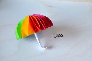 barevný papírový deštník