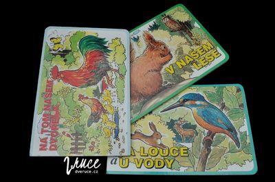 Knihy plné zvířat - V našem lese, Na louce a u vody, Na tom našem dvoře
