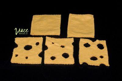 Plátkový sýr z filcu - návod