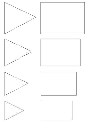 Obdélník a trojúhelník - různé velikosti