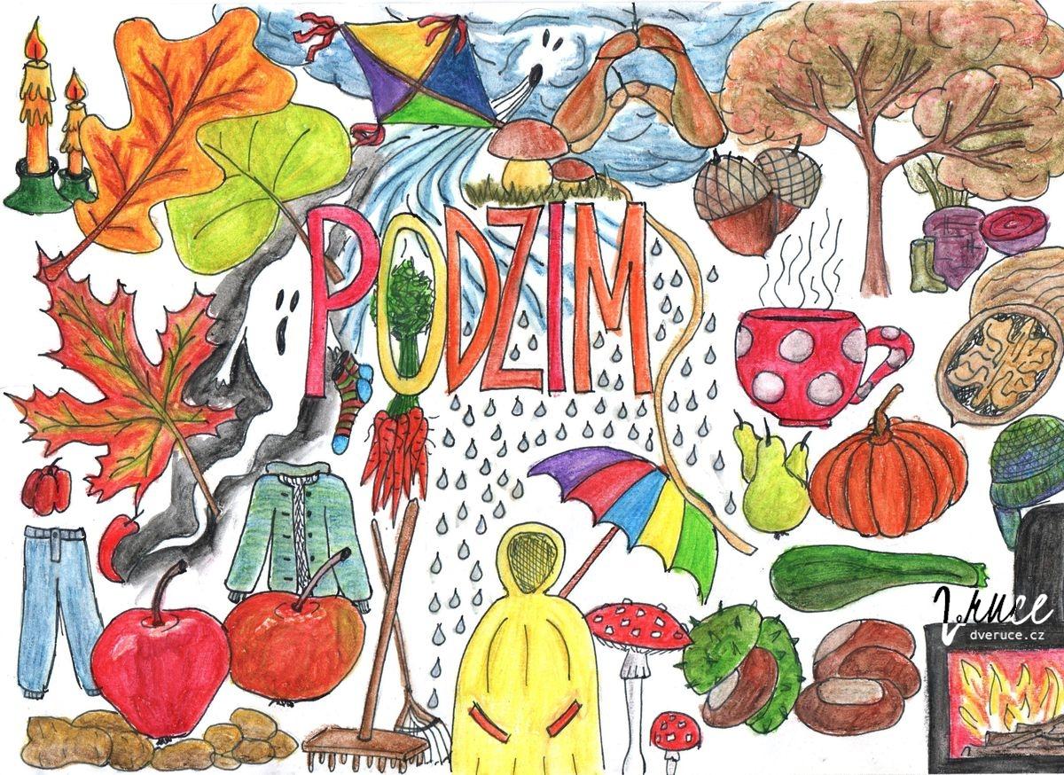 Podzimní omalovánka