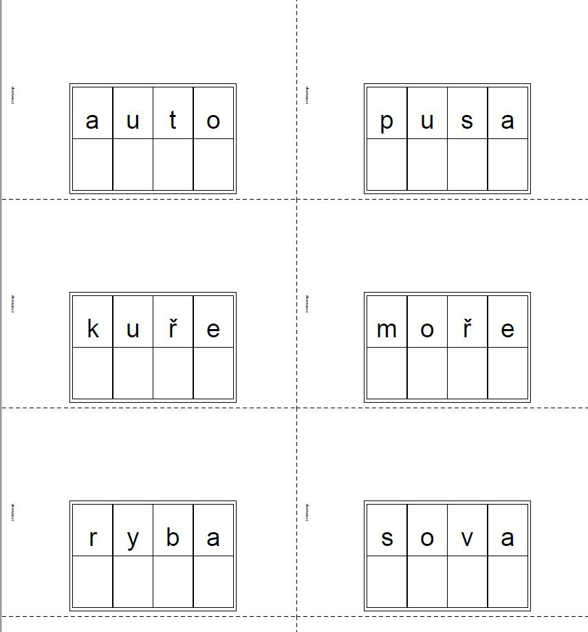 Slova pro pohyblivou abecedu