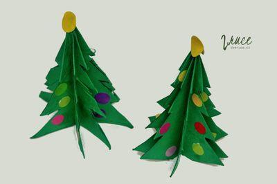 3D papírový (nejen vánoční) strom