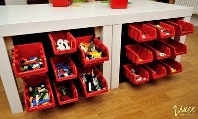 Jak uskladnit lego - nástěnný organizér